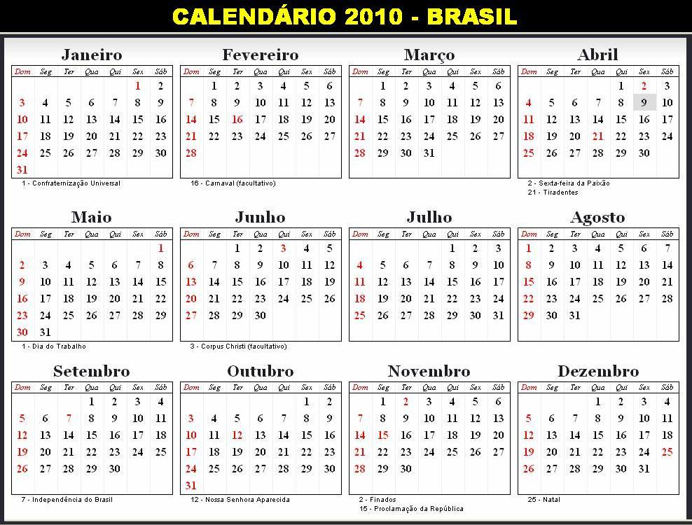 calendario 2010 para imprimir « Peregrino Mutante