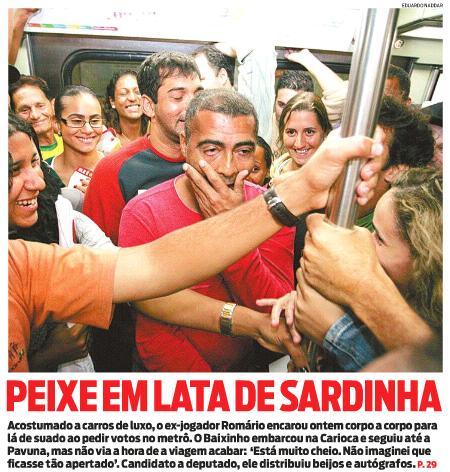 Capa do jornal O Dia de 05.08.2010