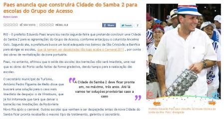 Globo Online, 31.01.2011