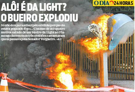 Capa do Jornal O Dia, 29.06.2011