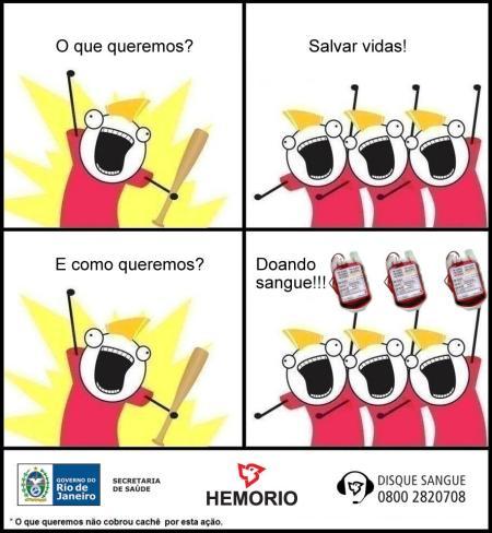 o que queremos doando sangue