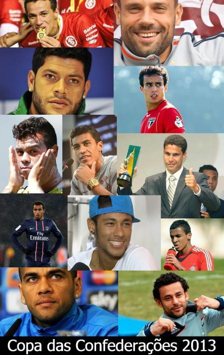 Copa das Confederações 2013: alguns dos convocados